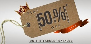 Flat 50% Sale on Men's / Women's Clothing & Footwear @ Myntra (28059 Products to Shop)