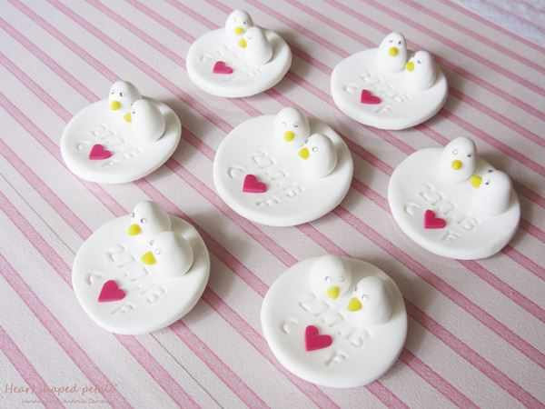 custom wedding favors birds heart