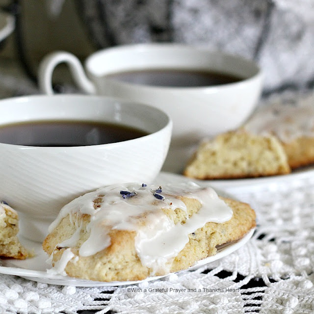 ... Prayer and a Thankful Heart: Sweet Lavender Scones in the Parlor