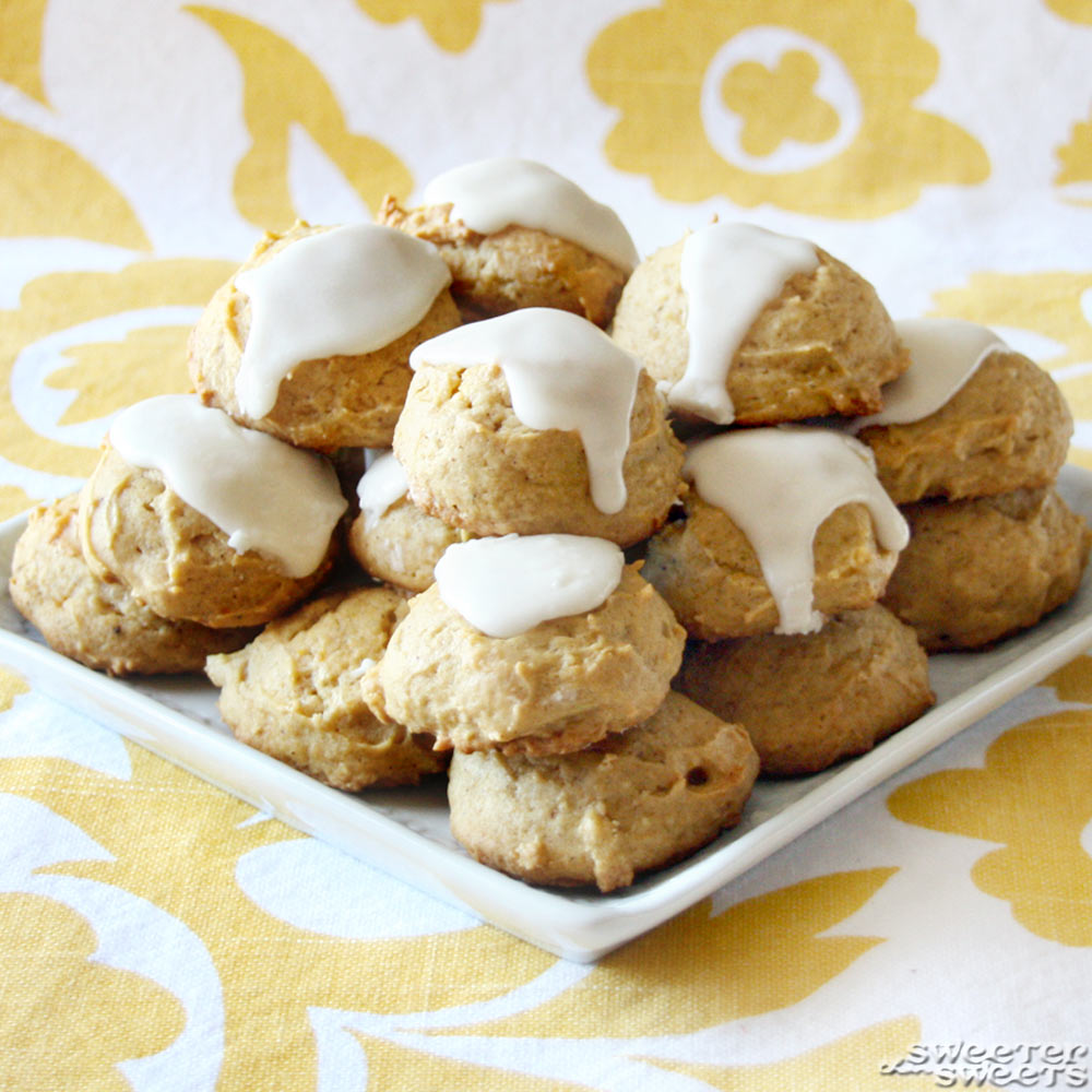 Libby's Glazed Pumpkin Cookies by Tricia @ SweeterThanSweets