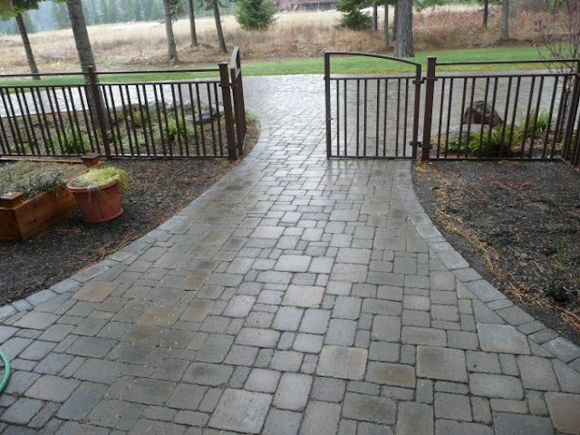 Cobblestone Stones For Driveways : Our french inspired home brick and cobblestone paver