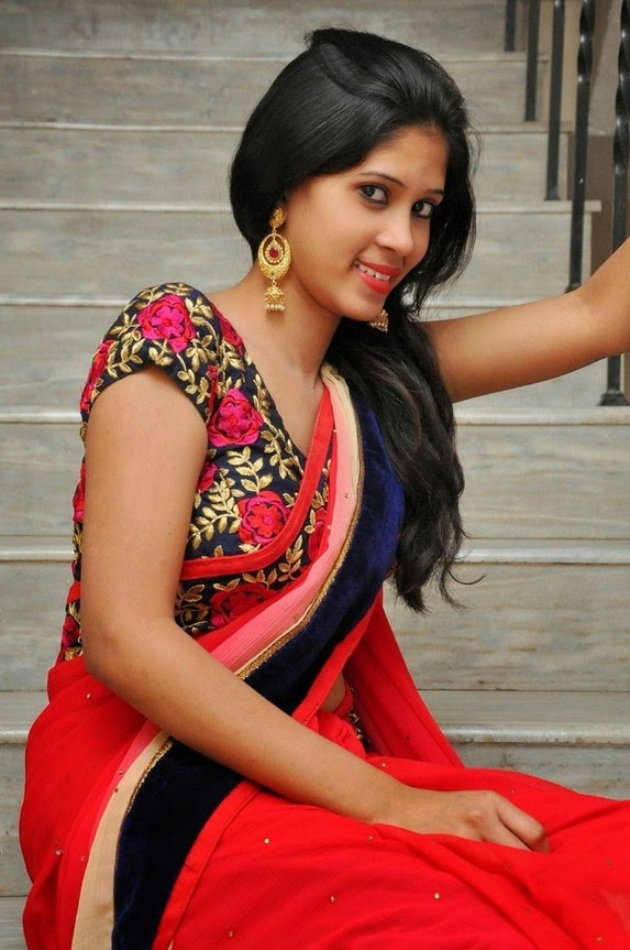 actress om sizzling photos in saree-HQ-Photo-10