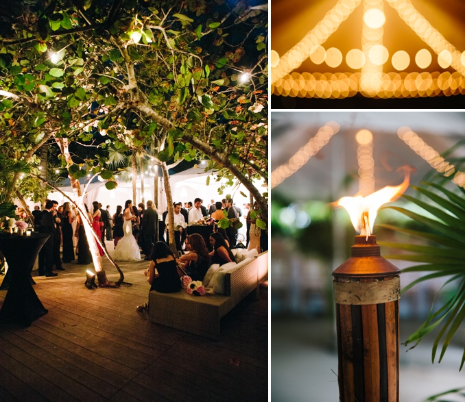 beautiful outdoor cocktail hour details