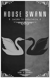 emblema casa Swann - Juego de Tronos en los siete reinos