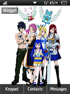 Anime Fairy Tail 001 Samsung Corby 2 Theme 2 Wallpaper