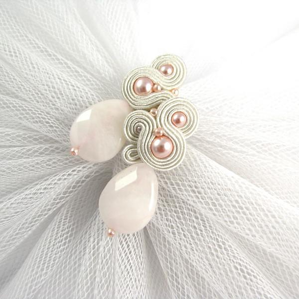 pudrowa biżuteria ślubna sutasz ivory