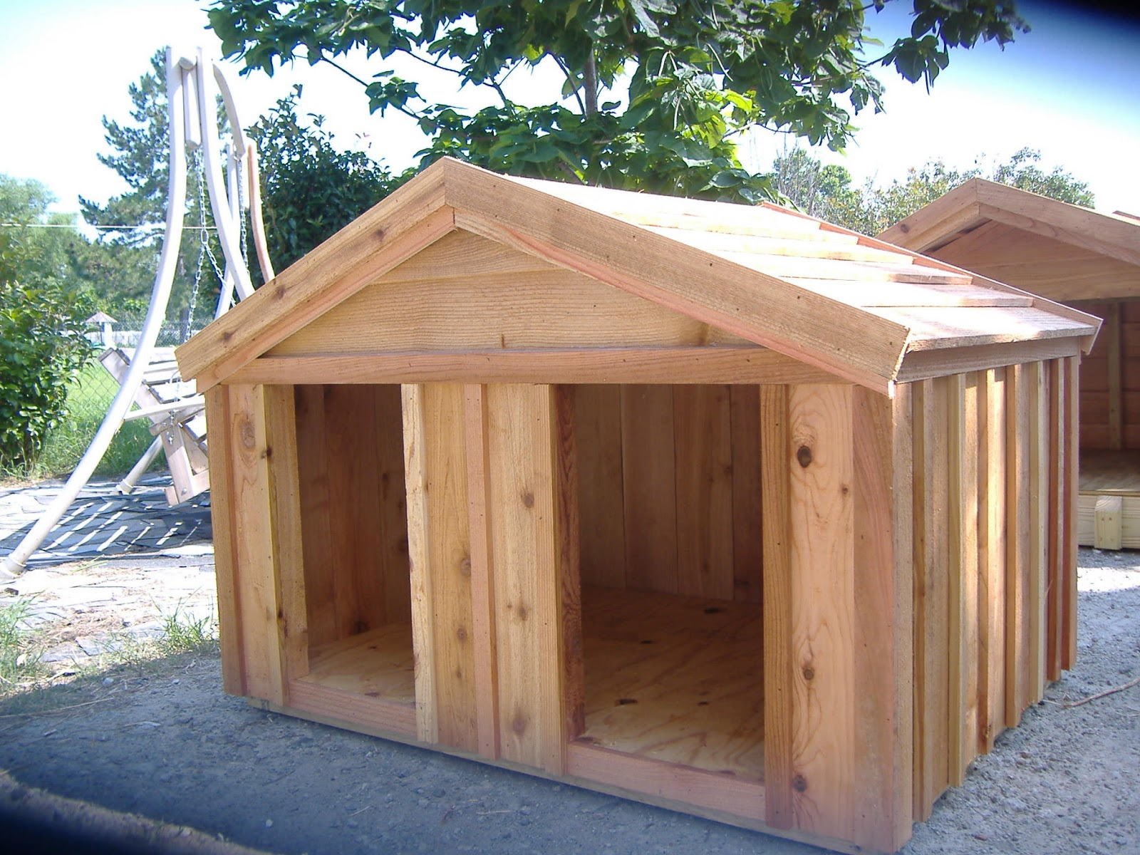 These Are Custom Cedar Dog House Can Be Built To Any Size Www