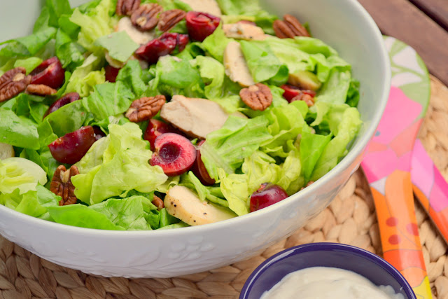 salad with fresh cherries and goat cheese dressing recipe