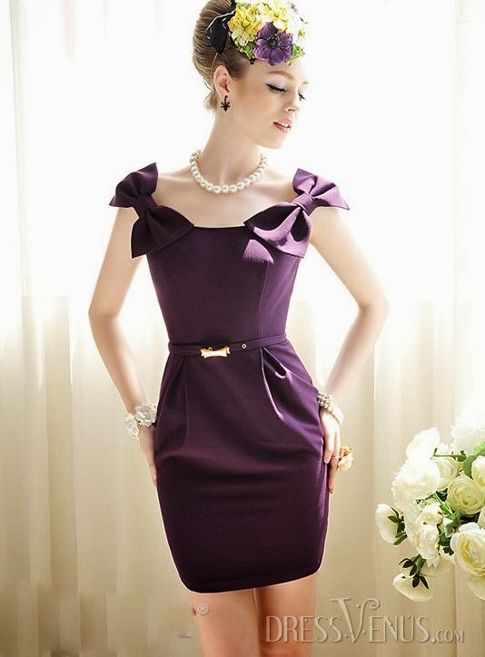 Temperament Cheap High Quality Slim Bow Knot Day Dress Item Code:10621400