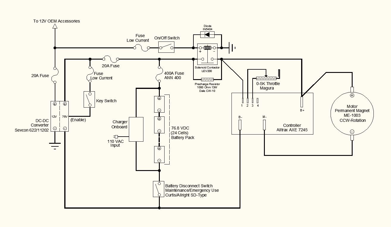 wiring schematic two options refinements electric motorcycle rh evmotorcycle blogspot com Outlet Wiring Schematic Outlet Wiring Schematic