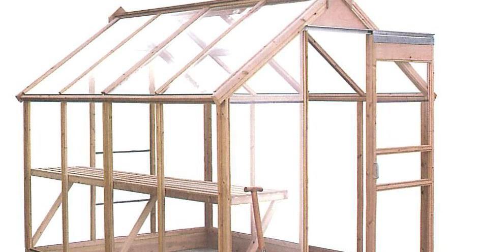 Serre cotswold en verre et en bois de chalet jardin for Serre bois et verre