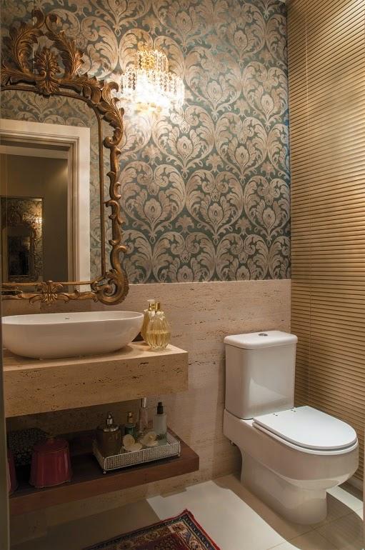 imagens decoracao lavabo : imagens decoracao lavabo:Banheiros/lavabos clássicos e sofisticados – saiba como decorá-los