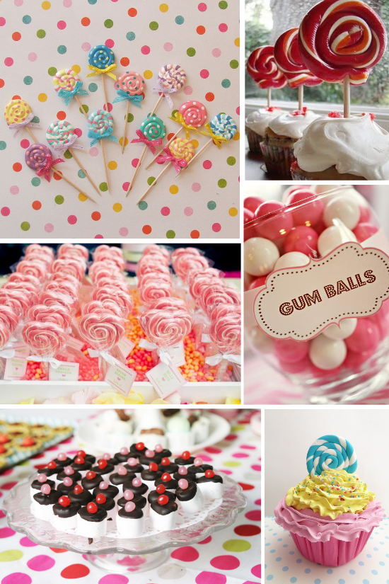 Wedding candies, lollipops, cupcakes, chewing-gum