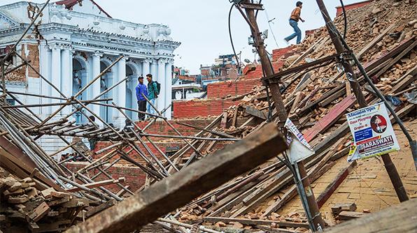 Earthquake Devastation at Basantpur Kathmandu Durbar Square