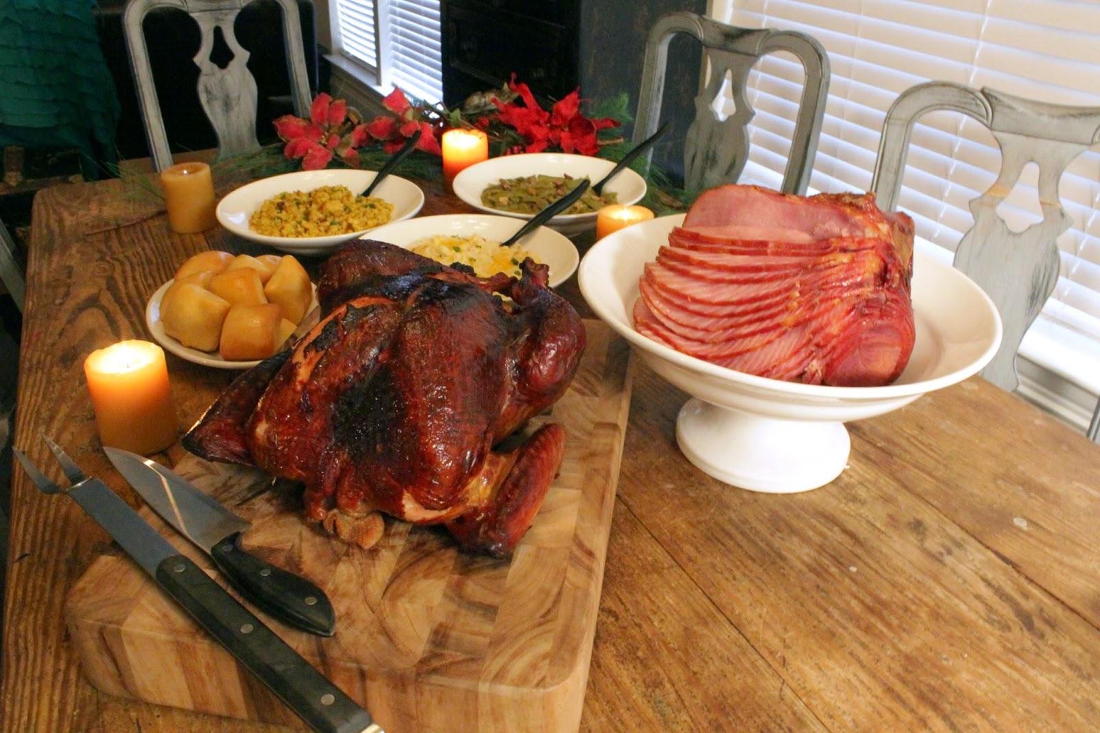 christmas ham dinner table - photo #18