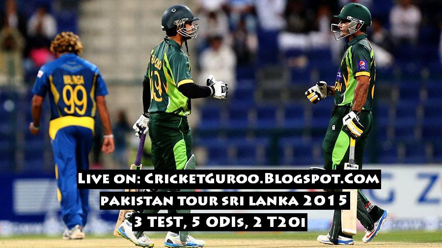 Pakistan Tour of Sri Lanka 2015 Schedule