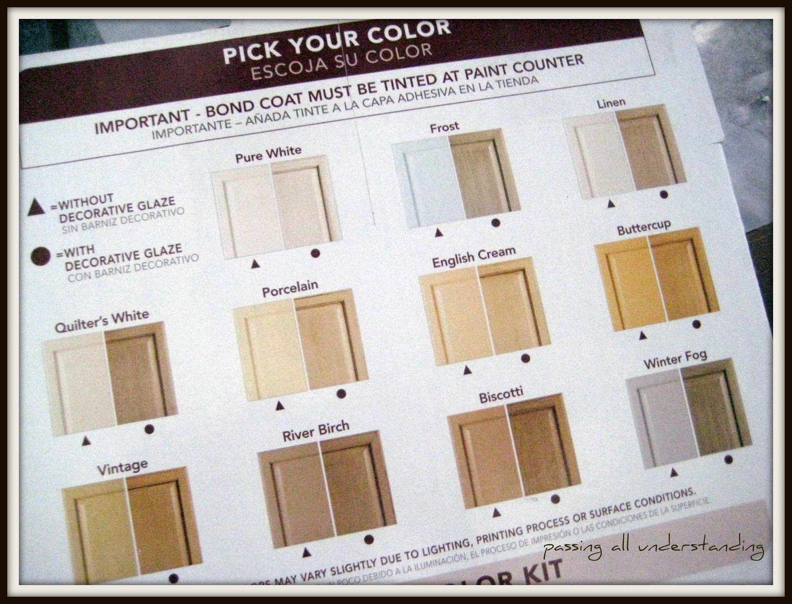 RustOleum CabiTransformation Paint Colors