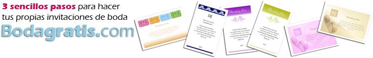 Invitaciones de boda GRATIS para imprimir