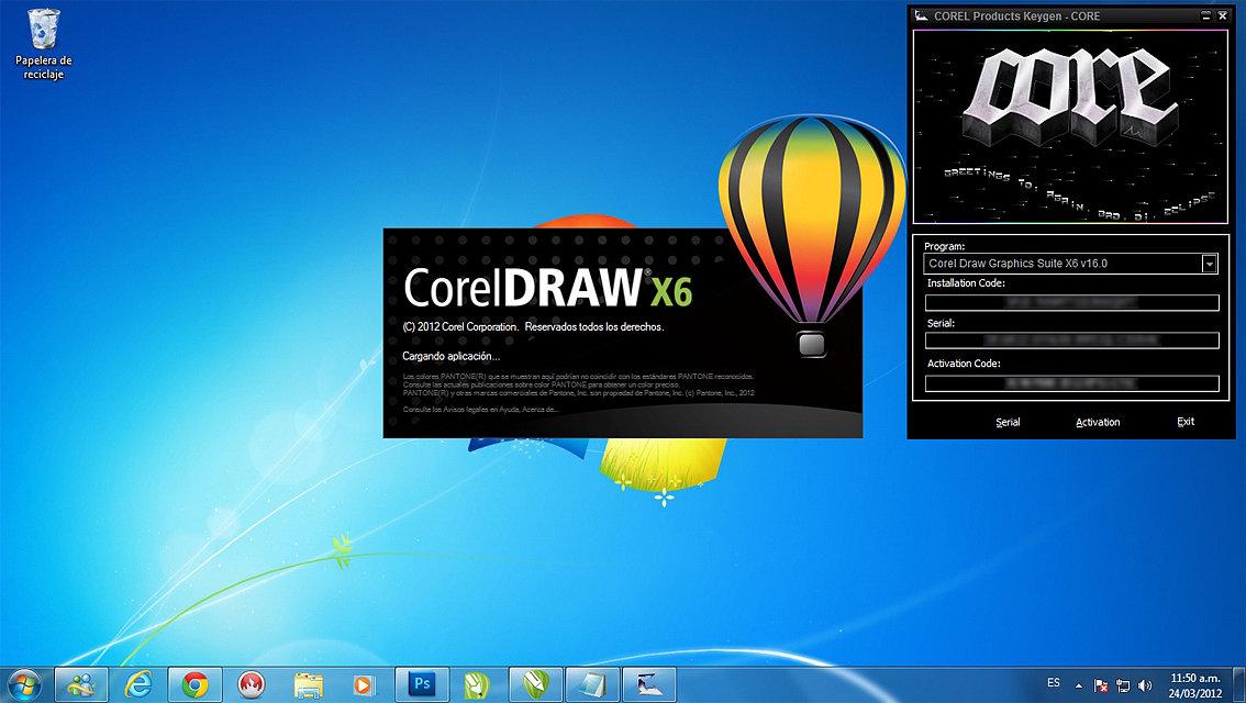 como instalar el corel draw x7 con keygen