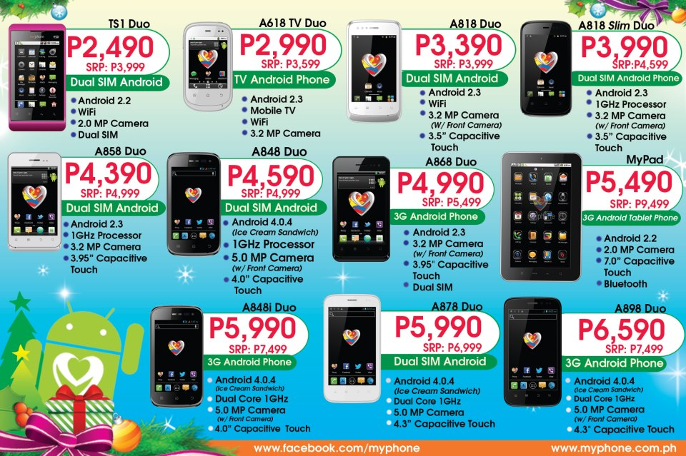 My Android Phone Price List