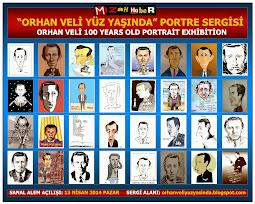 """MİZAHHABER'İN DÜZENLEDİĞİ """"ORHAN VELİ YÜZ YAŞINDA"""" PORTRE KARİKATÜR SERGİSİ AÇILDI..."""
