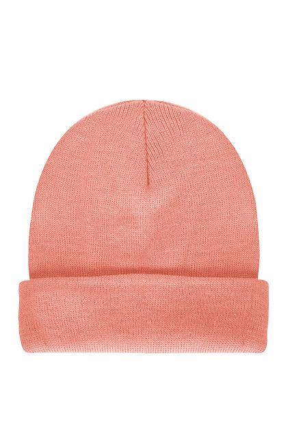 coral beanie hat,