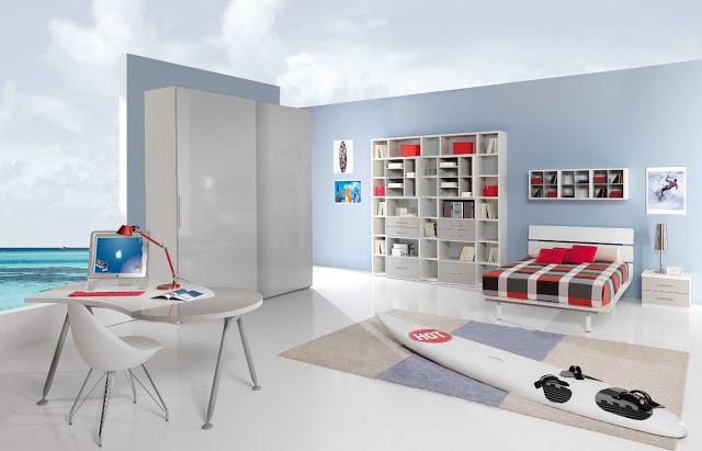 Chambre ado garon chambre a coucher blanche que vraiment inou pour vos dcor de maison ides - Couleur peinture chambre ado garcon ...
