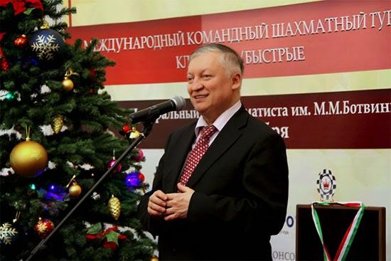 Le match des générations lancé par Anatoly Karpov © site officiel