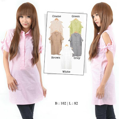 Kemeja Anita Long Body Blouse - 10419