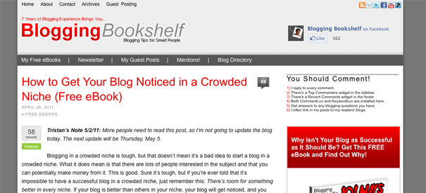 Blogging Bookshelf preview