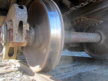 Freight Car Wheels A-Turnin'.
