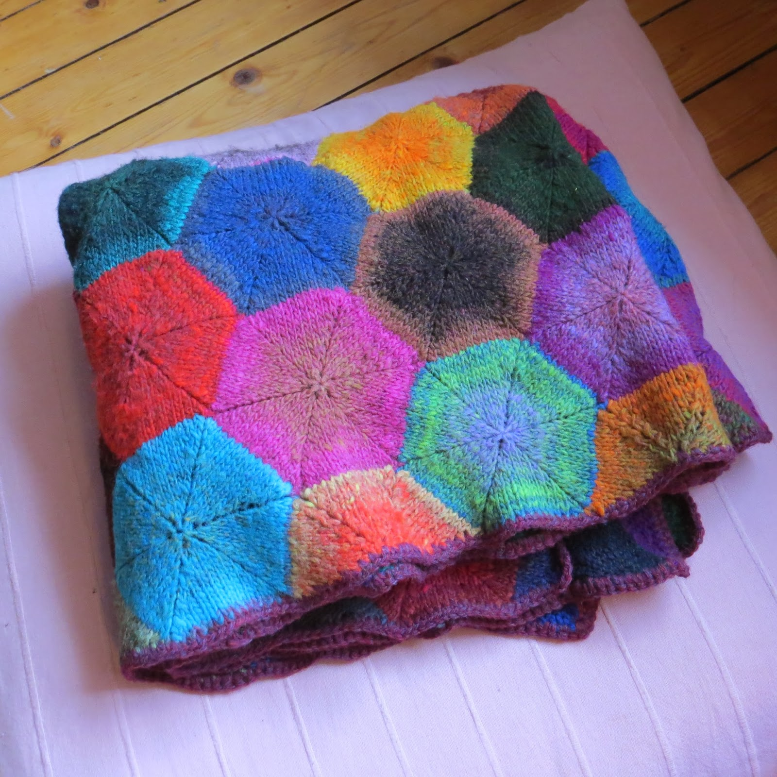 A colourful life: the hexagon blanket odyssey is finally over