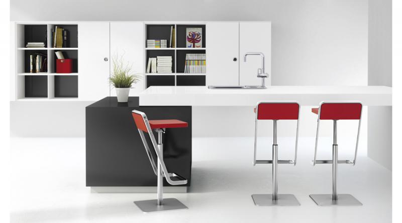 taburete cocina rojo moderno
