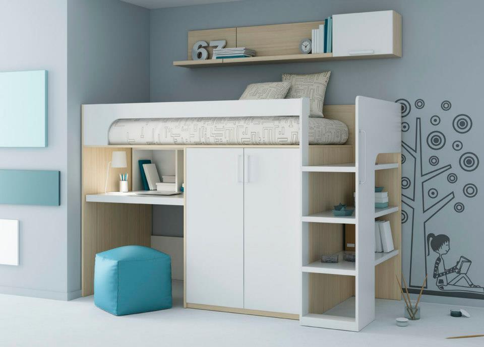 Tienda dormitorios juveniles decoraci n integral para tu for Camas altas juveniles