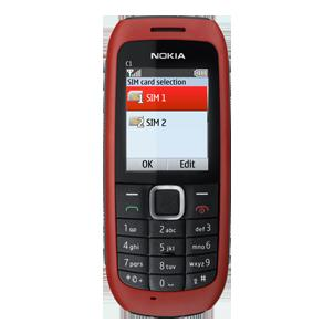 Nokia C1-00 is the first dual SIM mobile from Nokia.