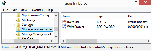 How to remove write protection from a USB flash drive