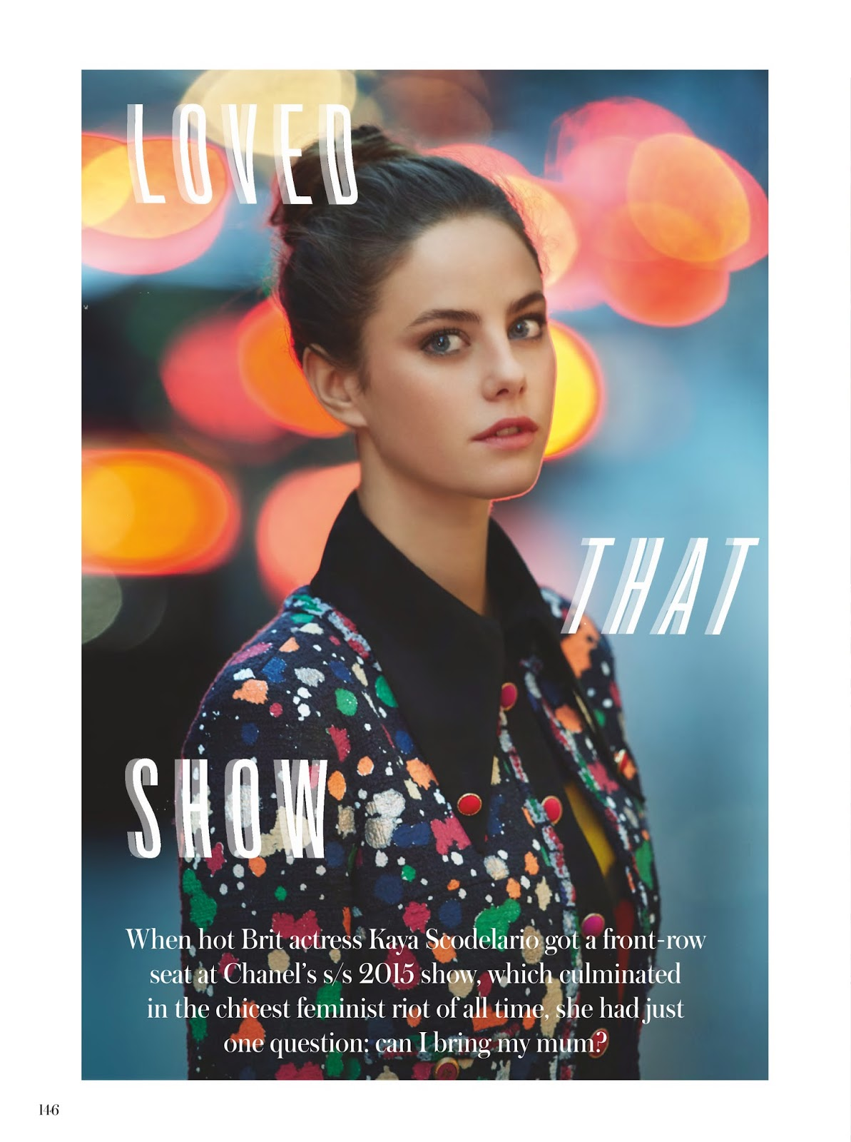 Actress: Kaya Scodelario - InStyle, UK, March 2015