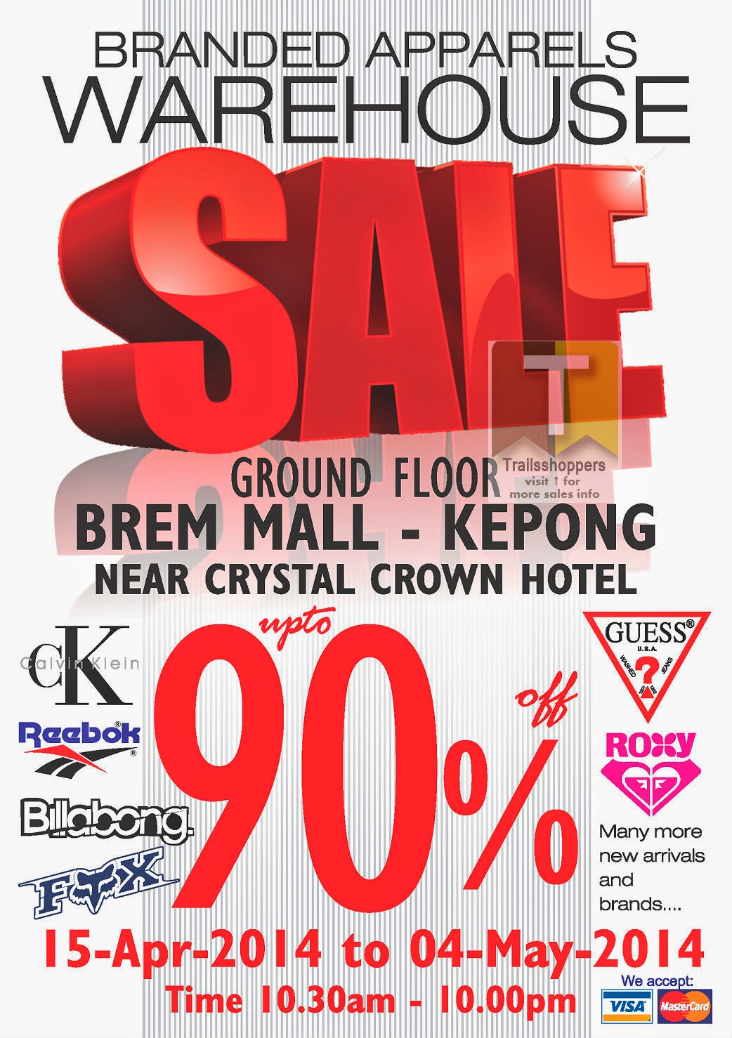Branded Apparels Warehouse Sale at Brem Mall Kepong Discounts up to 90% off