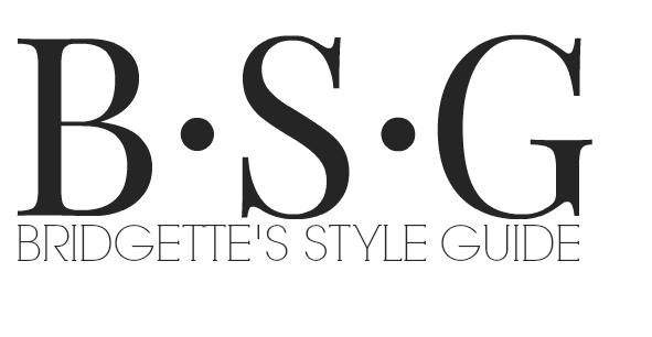 Bridgette's Style Guide