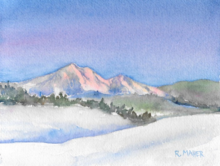 Winter Morning at Katahdin