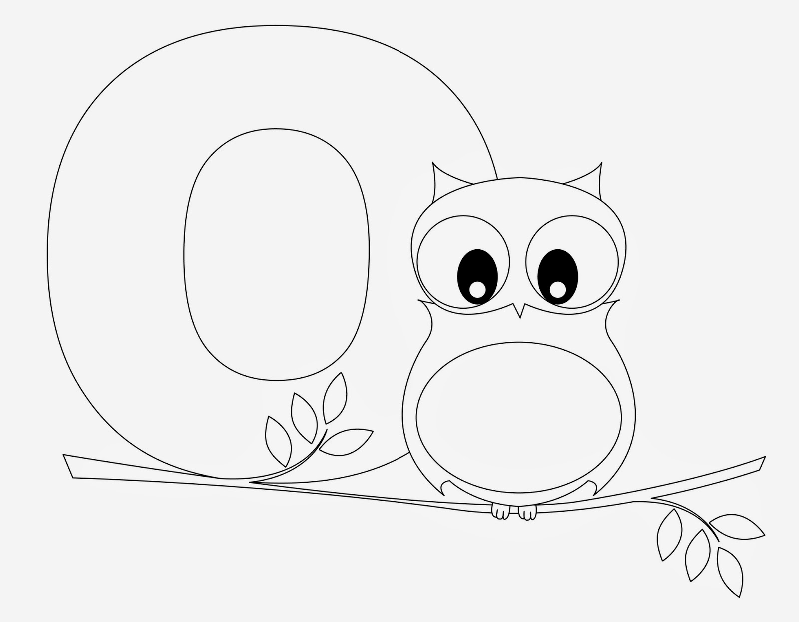 Printable Alphabet Coloring Pages Owl