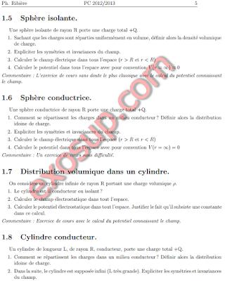 Exercices d'électrostatique et magnétostatique