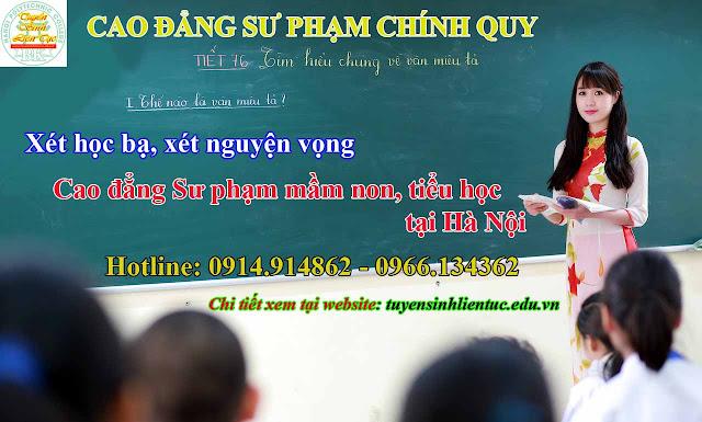 Xét tuyển Nguyện vọng Cao đẳng Sư phạm Mầm non chính quy tại Hà Nội