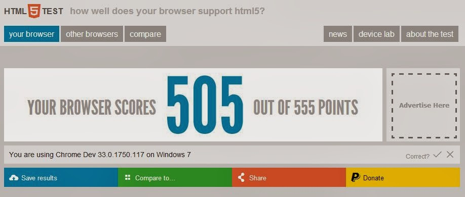Testing Your Browser Before Running HTML 5 Script
