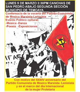 Conferencia de la vocería del PCMML Temoaya