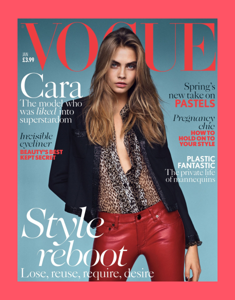 Cara Delevingne covers British Vogue January 2014
