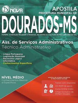 Apostila Prefeitura de Dourados 2016 - Técnico Administrativo