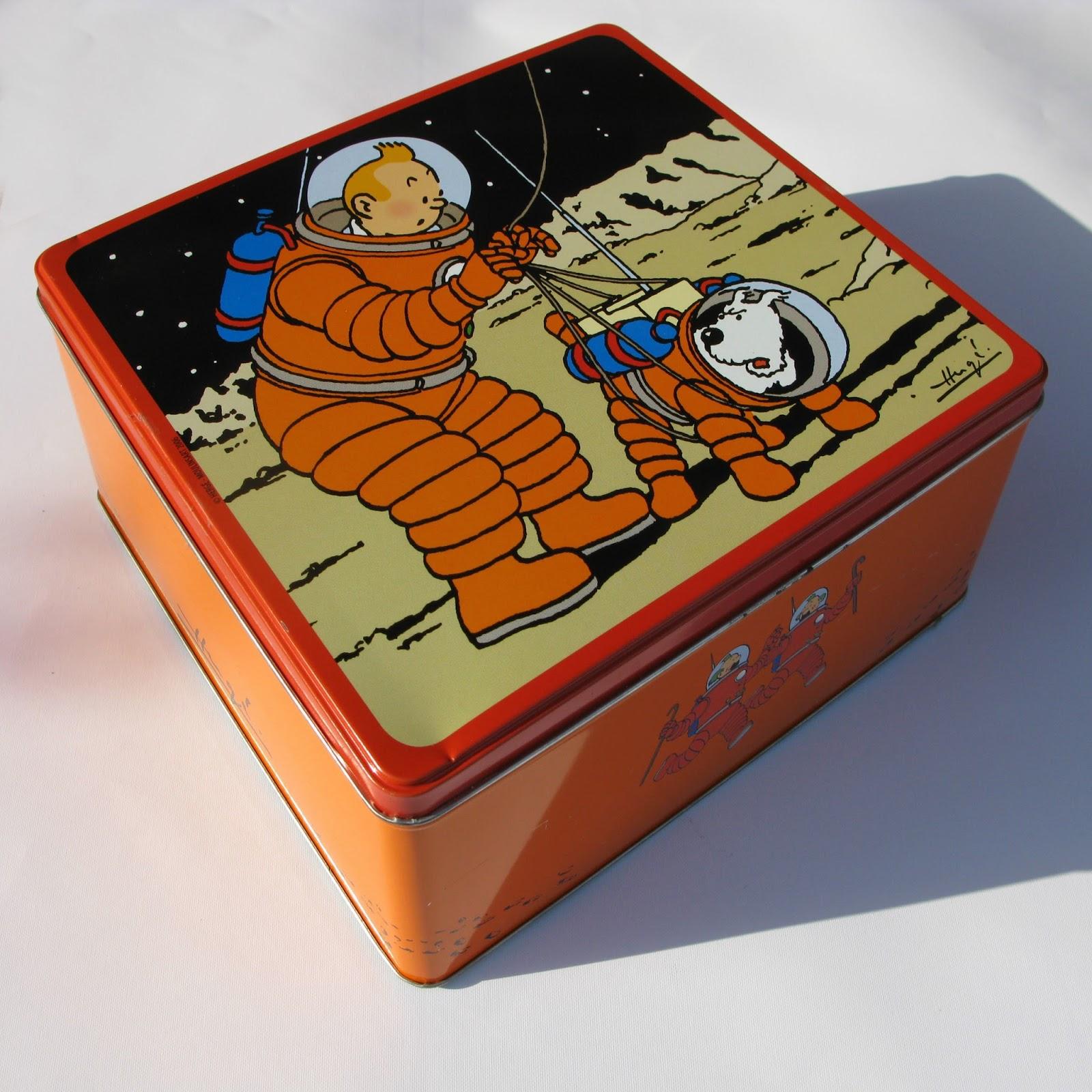 Tintin et milou sur la lune inventaire de mes boites en m tal - Boite a gateau metal ...