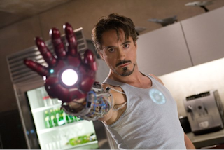 Robert Downy Jnr as Tony Stark in Iron Man 3