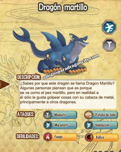 imagen de las caracteristicas del dragon martillo